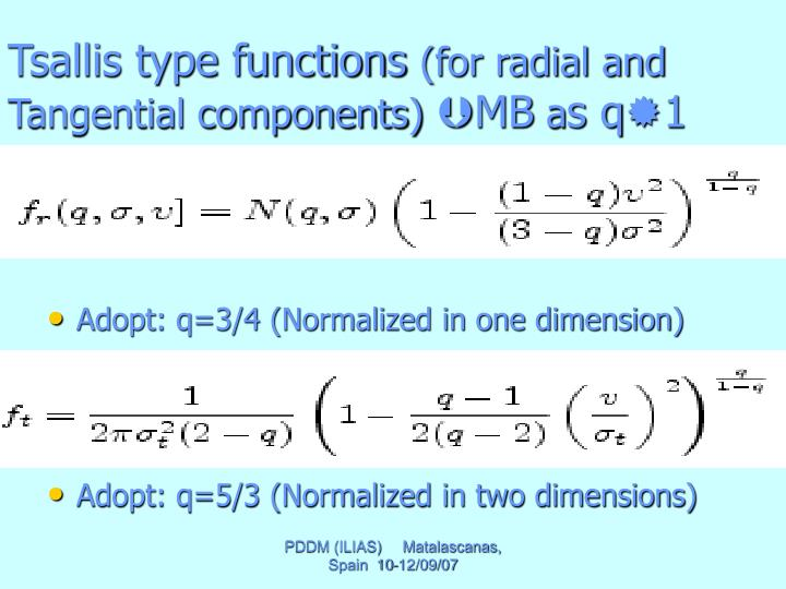 Tsallis type functions
