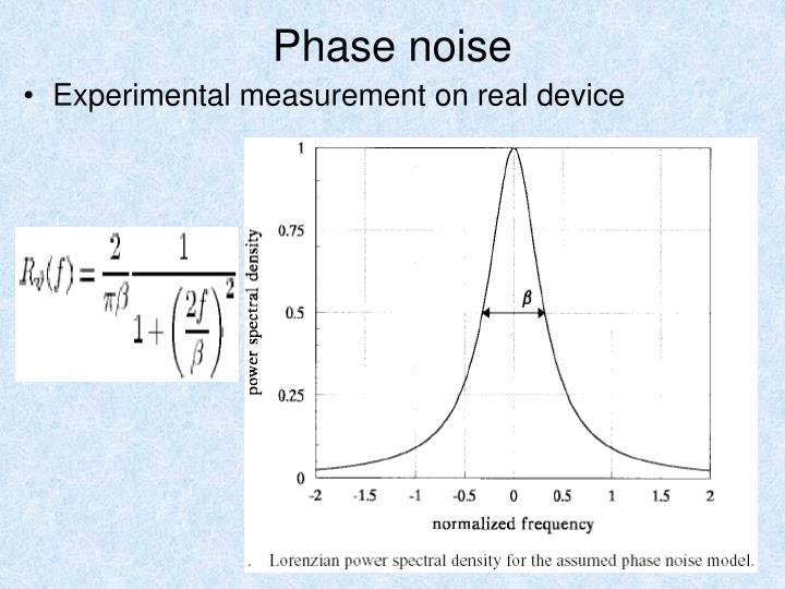 Phase noise
