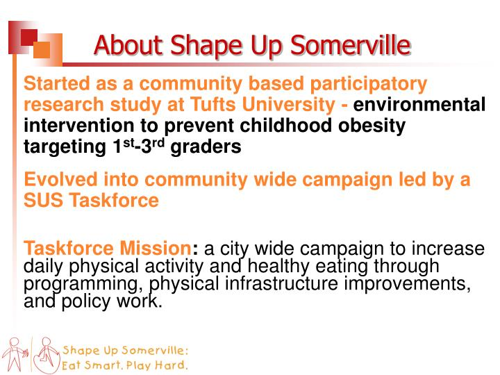 About Shape Up Somerville