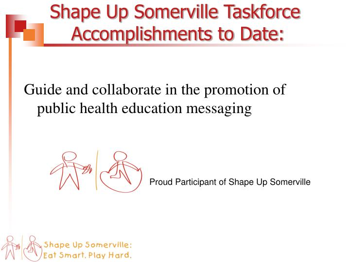Shape Up Somerville Taskforce