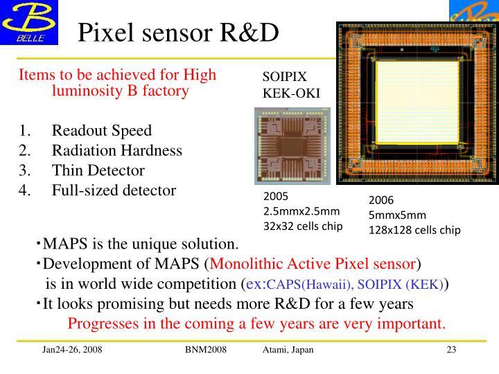 Pixel sensor R&D