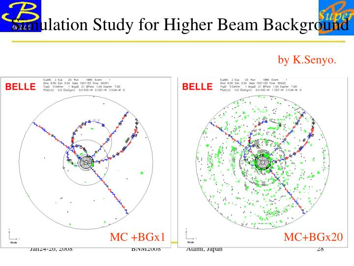Simulation Study for Higher Beam Background