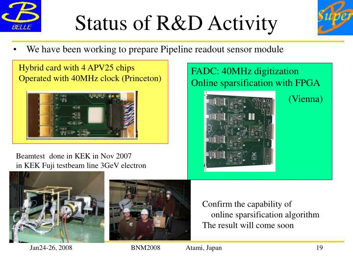 Status of R&D Activity