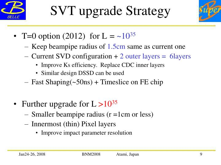 SVT upgrade Strategy