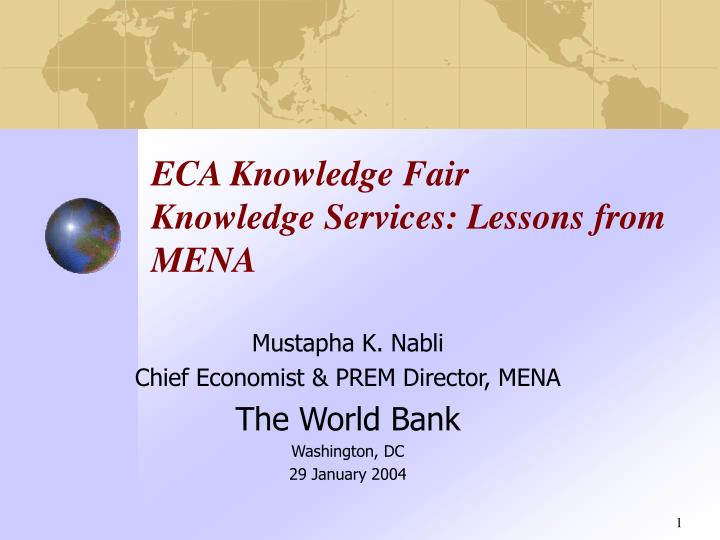 eca knowledge fair knowledge services lessons from mena