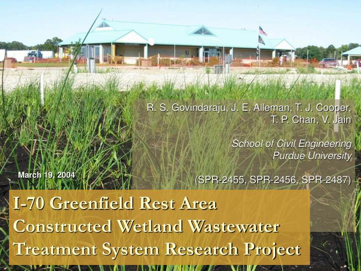 I 70 greenfield rest area constructed wetland wastewater treatment system research project