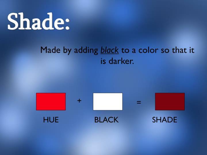 Shade:
