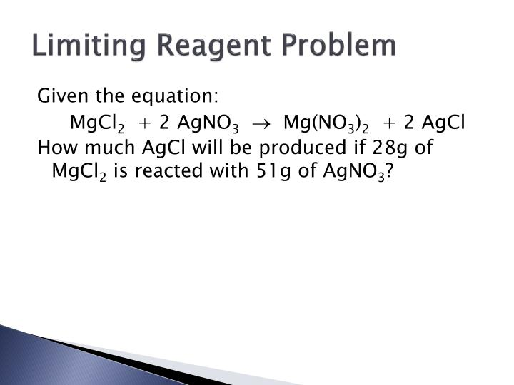 Limiting Reagent Problem