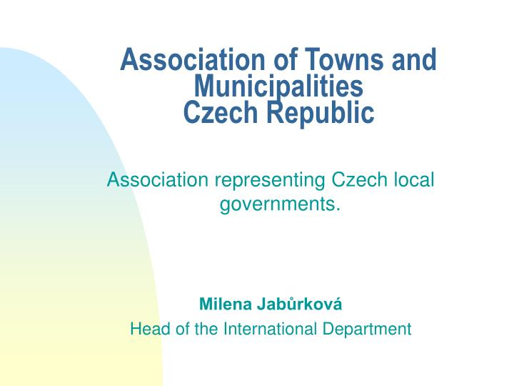 Association of towns and municipalities czech republic