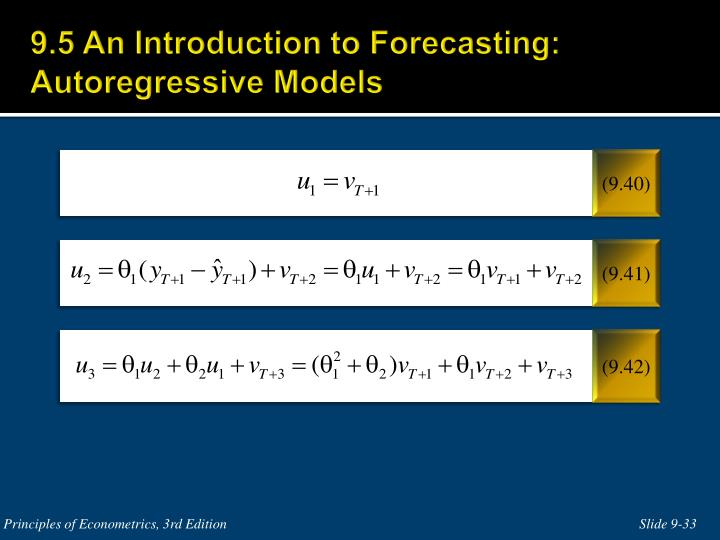 9.5 An Introduction to Forecasting: Autoregressive Models