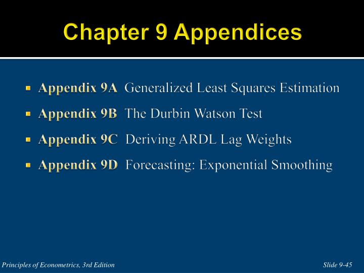 Chapter 9 Appendices