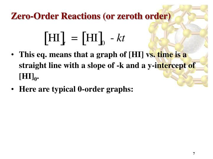 Zero-Order Reactions (or zeroth order)