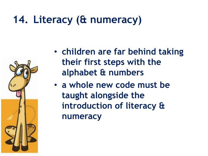 14. Literacy (& numeracy)