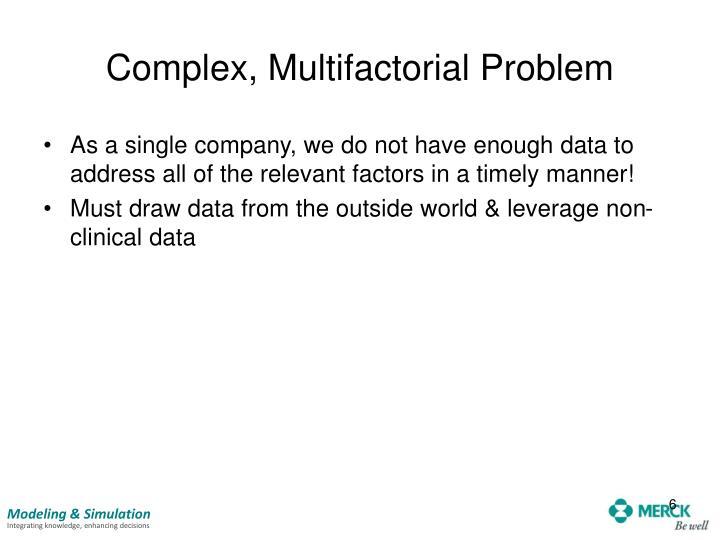 Complex, Multifactorial Problem