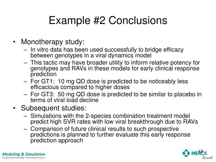 Example #2 Conclusions