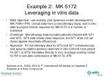 example 2 mk 5172 leveraging in vitro data