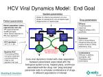 hcv viral dynamics model end goal