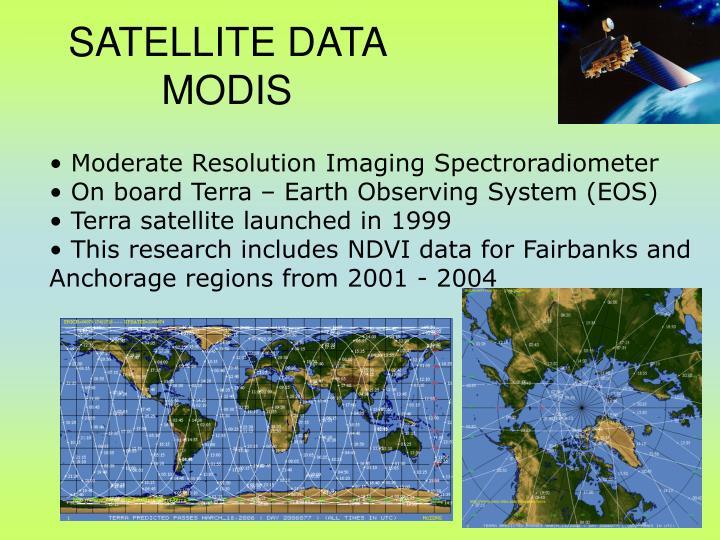 SATELLITE DATA  MODIS