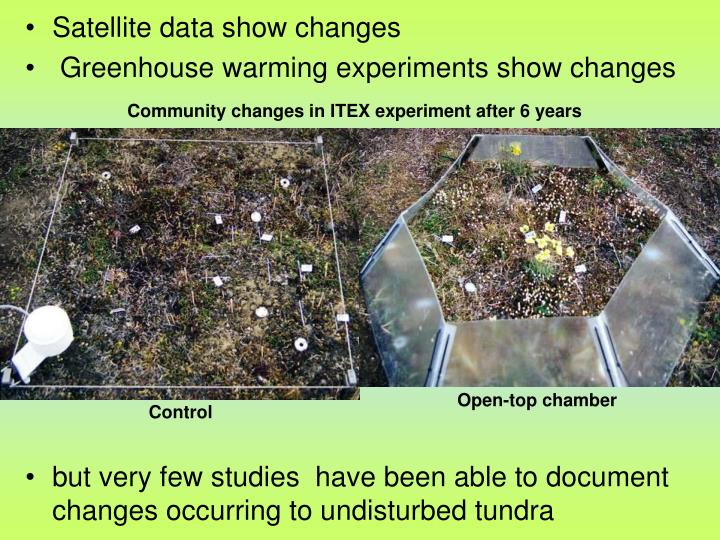 Community changes in ITEX experiment after 6 years