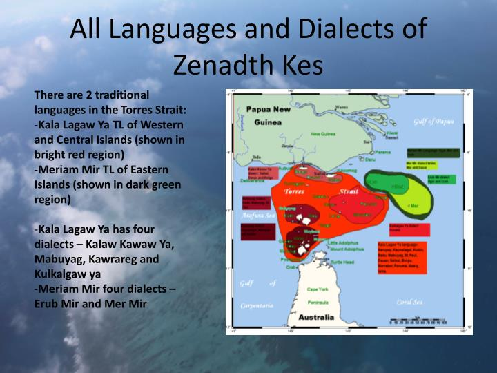 All Languages and Dialects of Zenadth Kes