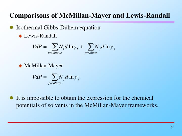 Comparisons of McMillan-Mayer and Lewis-Randall