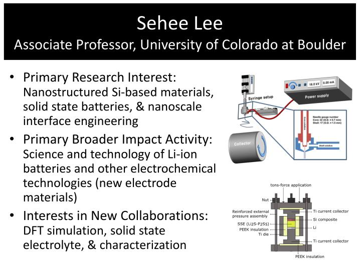 Sehee lee associate professor university of colorado at boulder
