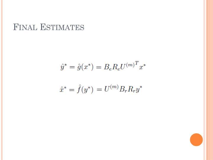 Final Estimates