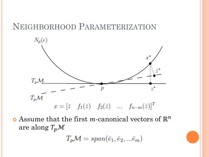 Neighborhood Parameterization