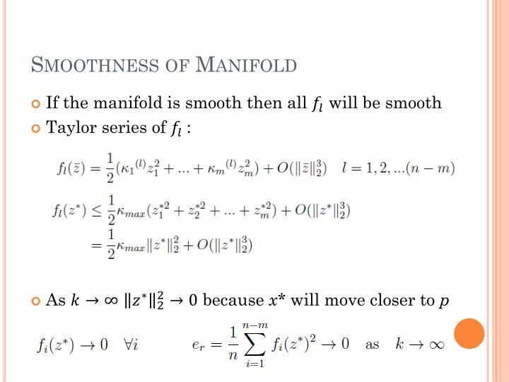Smoothness of Manifold