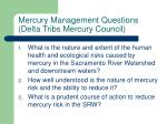 mercury management questions delta tribs mercury council