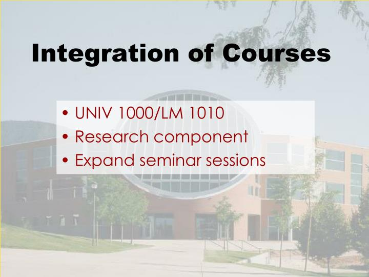 Integration of Courses