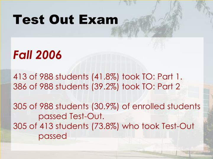 Test Out Exam