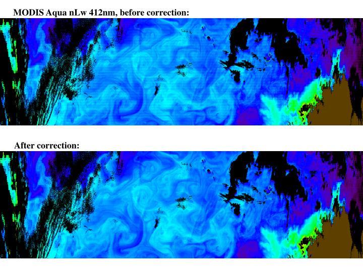 MODIS Aqua nLw 412nm, before correction:
