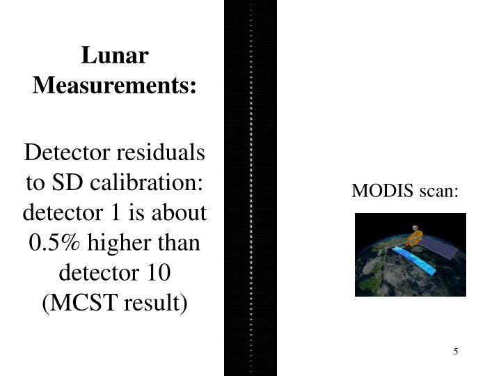 Lunar Measurements: