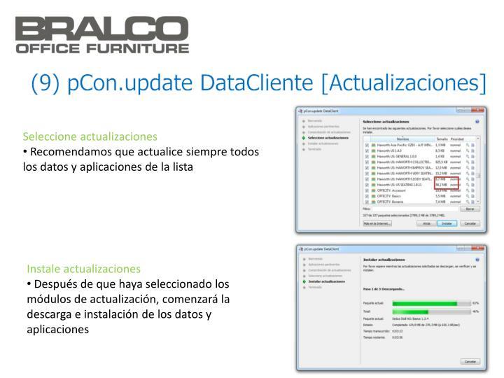 (9) pCon.update DataCliente