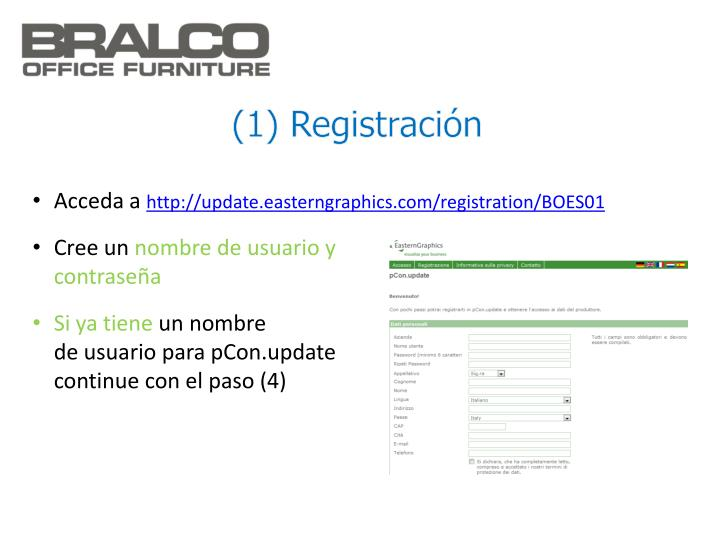 (1) Registración