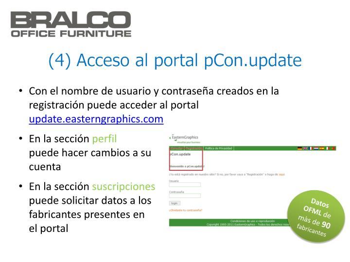 (4) Acceso al portal pCon.update
