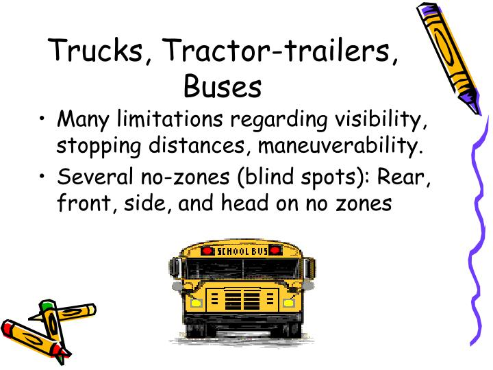 Trucks, Tractor-trailers, Buses