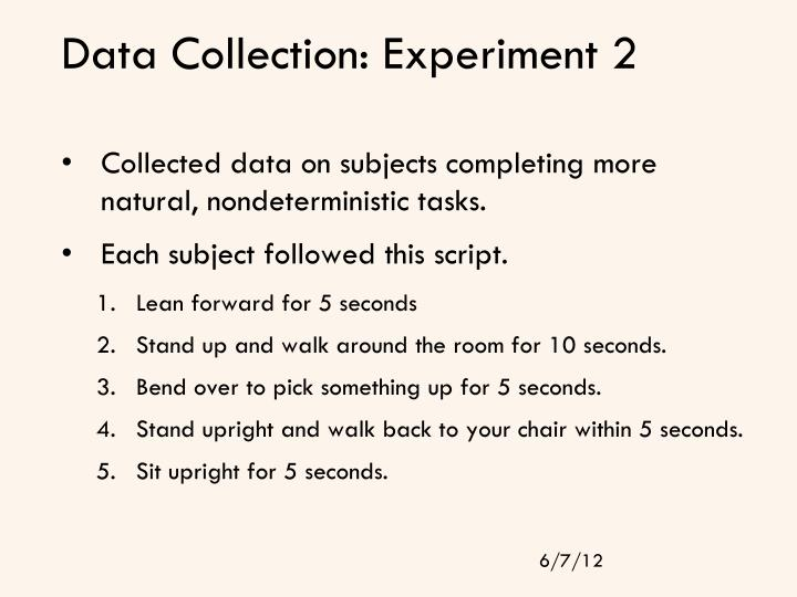 Data Collection: Experiment 2
