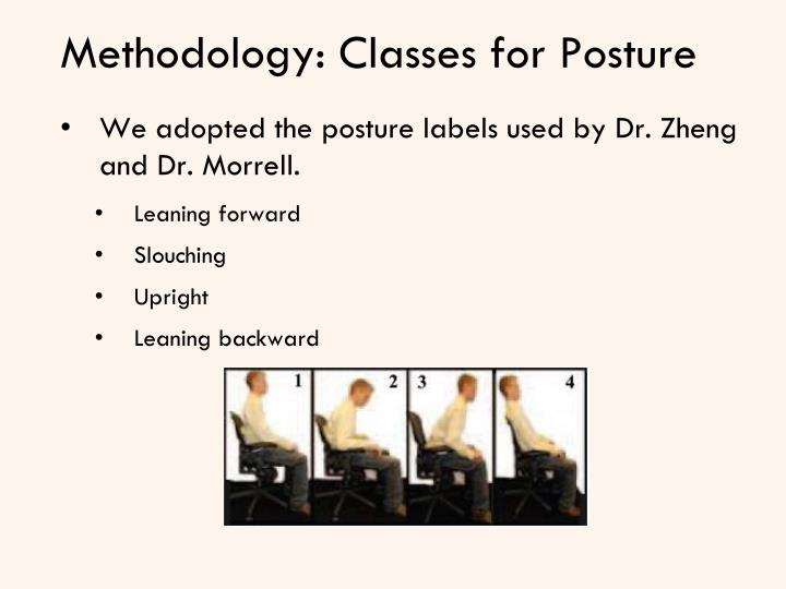 Methodology: Classes for Posture
