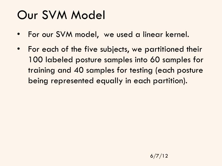 Our SVM Model