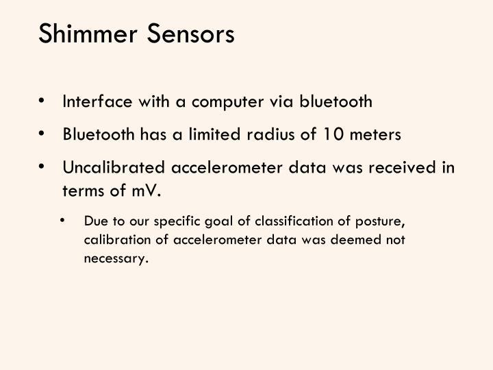 Shimmer Sensors