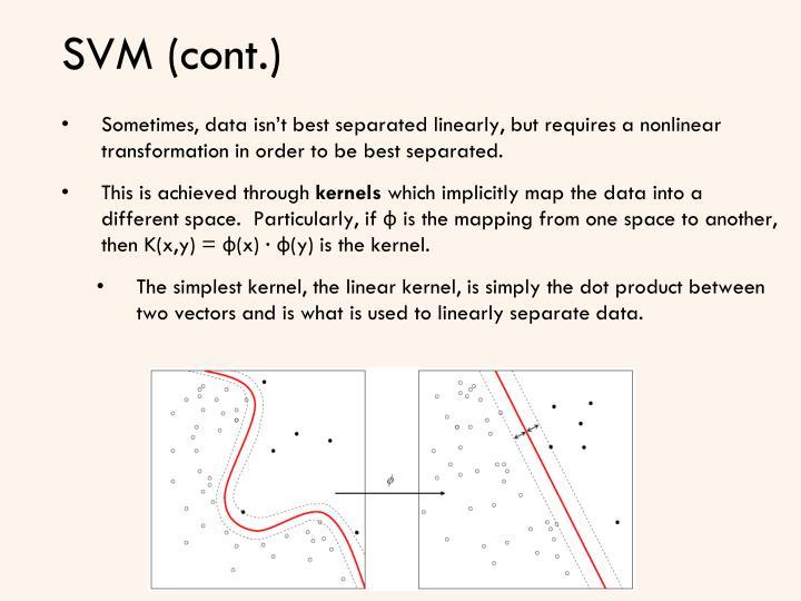 SVM (cont.)
