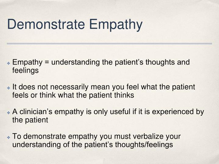 Demonstrate Empathy