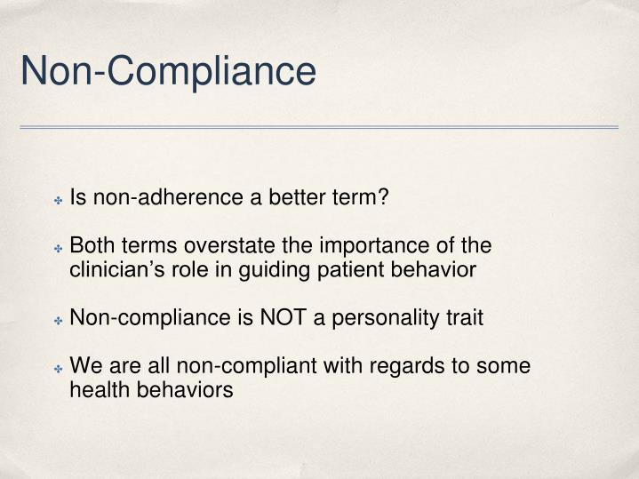 Non-Compliance