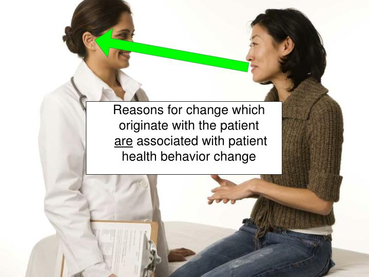 Reasons for change which originate with the patient