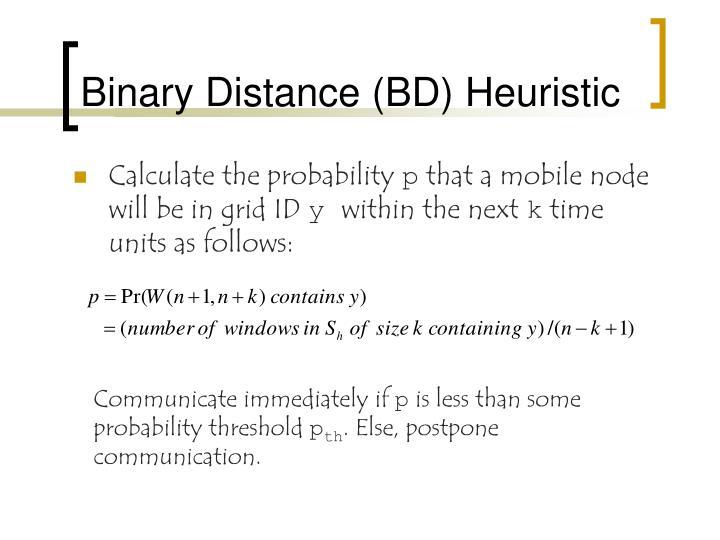 Binary Distance (BD) Heuristic