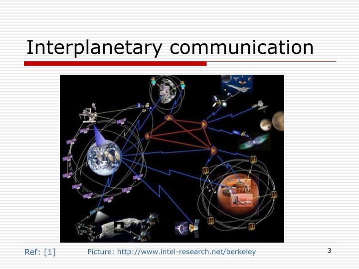 Interplanetary communication