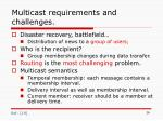 multicast requirements and challenges