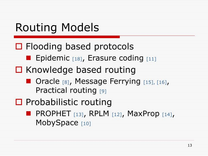 Routing Models